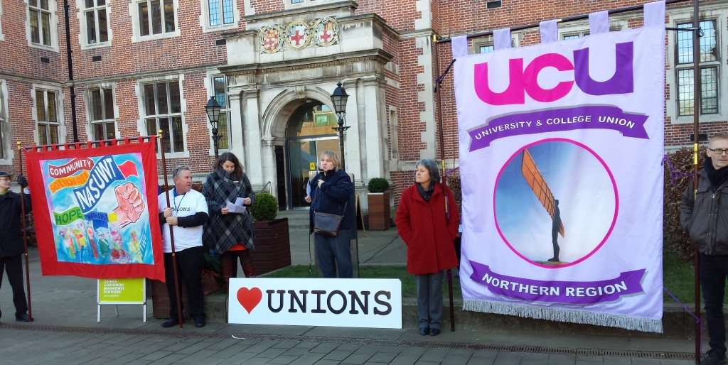 Joan and UCU banner
